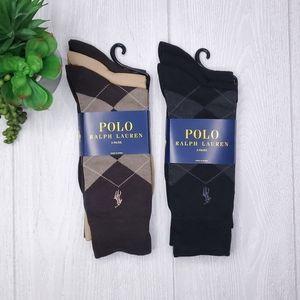 Polo Ralph Lauren Argyle Men's Crew Socks 6PK